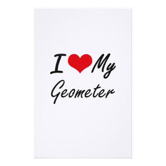 I love my Geometer Stationery