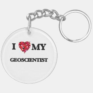 I love my Geoscientist Double-Sided Round Acrylic Keychain