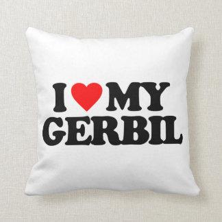 I LOVE MY GERBIL PILLOW