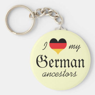 I love my German ancestors Keychain