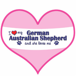I Love My German Australian Shepherd (Female Dog) Statuette