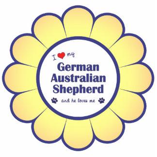 I Love My German Australian Shepherd (Male Dog) Statuette