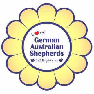 I Love My German Australian Shepherds (Multi Dogs) Statuette