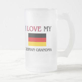 I Love My German Grandma Frosted Glass Beer Mug