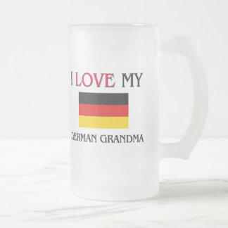 I Love My German Grandma 16 Oz Frosted Glass Beer Mug