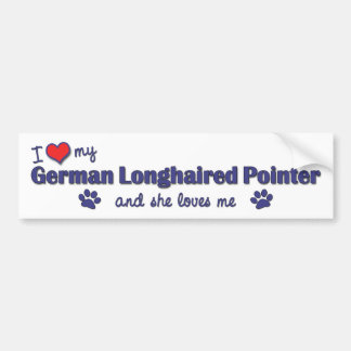 I Love My German Longhaired Pointer (Female Dog) Bumper Sticker