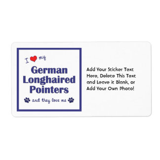 I Love My German Longhaired Pointers (Multi Dogs) Shipping Label