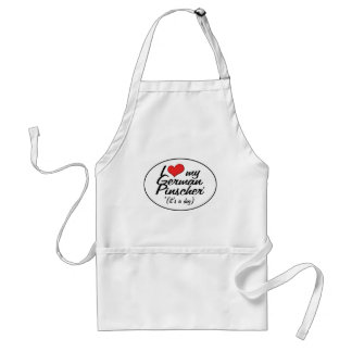 I Love My German Pinscher (It's a Dog) Adult Apron
