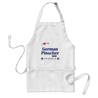 I Love My German Pinscher Mix (Female Dog) Adult Apron