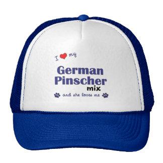 I Love My German Pinscher Mix (Female Dog) Trucker Hat