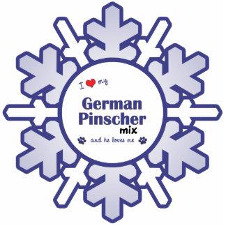 I Love My German Pinscher Mix (Male Dog) Photo Cutouts