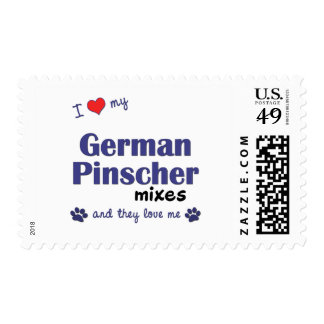 I Love My German Pinscher Mixes (Multiple Dogs) Stamp