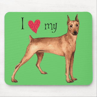 I Love my German Pinscher Mouse Pad