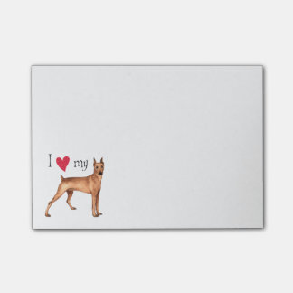 I Love my German Pinscher Post-it® Notes