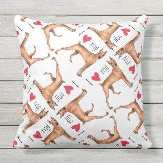 I Love my German Pinscher Throw Pillow