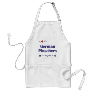 I Love My German Pinschers (Multiple Dogs) Adult Apron