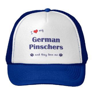 I Love My German Pinschers (Multiple Dogs) Trucker Hat