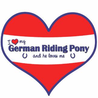 I Love My German Riding Pony (Male Pony) Cutout