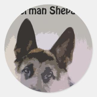 I Love My German Shepard Sticker