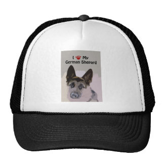 I Love My German Shepard Trucker Hat