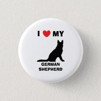 """I Love My German Shepherd"" Button"