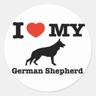 I love my German Shepherd Classic Round Sticker