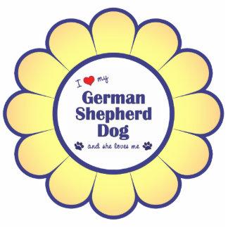 I Love My German Shepherd Dog (Female Dog) Cutout