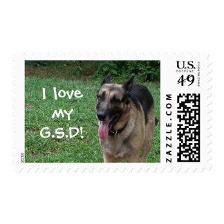 I love my German Shepherd Dog Postage