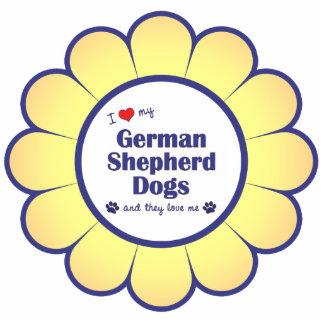I Love My German Shepherd Dogs (Multiple Dogs) Cutout
