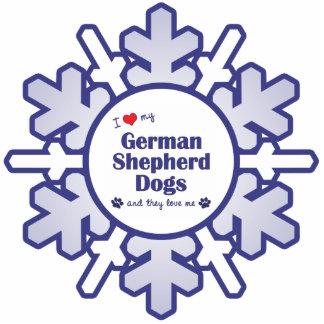 I Love My German Shepherd Dogs (Multiple Dogs) Statuette