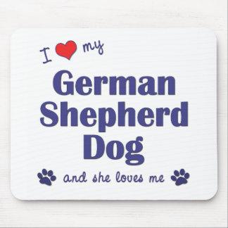 I Love My German Shepherd (Female Dog) Mouse Pad