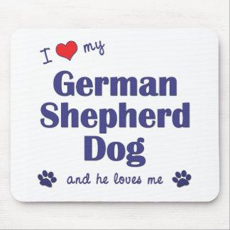 I Love My German Shepherd (Male Dog) Mouse Pad