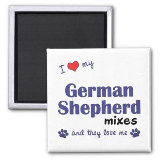 I Love My German Shepherd Mixes (Multiple Dogs) Magnet
