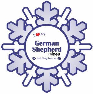 I Love My German Shepherd Mixes (Multiple Dogs) Statuette