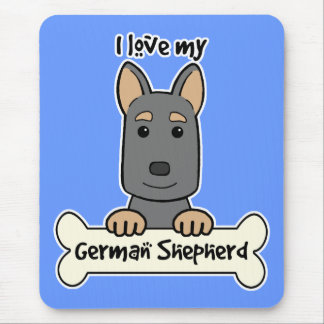 I Love My German Shepherd Mouse Pad