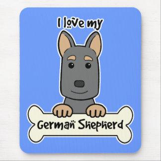 I Love My German Shepherd Mouse Pad