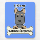 I Love My German Shepherd Mousepad