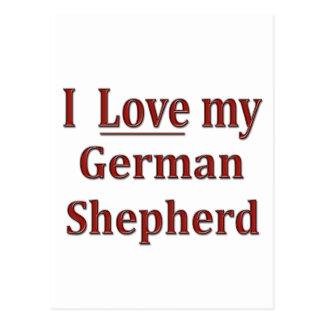 I Love my German Shepherd Postcard