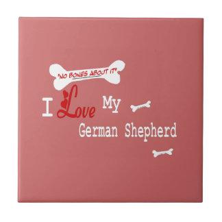 I Love My German Shepherd Tile