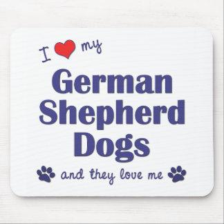 I Love My German Shepherds (Many Dogs) Mouse Pad