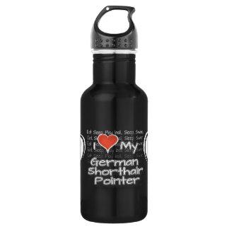 I Love My German Shorthair Pointer Water Bottle