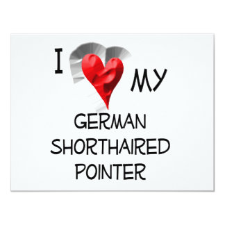 I Love My German Shorthaired Pointer Card