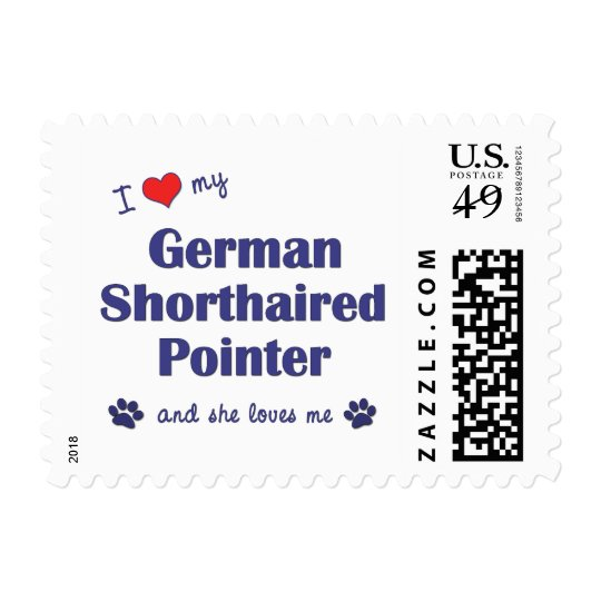 I Love My German Shorthaired Pointer (Female Dog) Postage