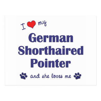I Love My German Shorthaired Pointer (Female Dog) Postcard