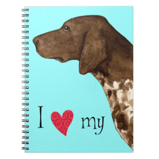 I Love my German Shorthaired Pointer Spiral Note Books