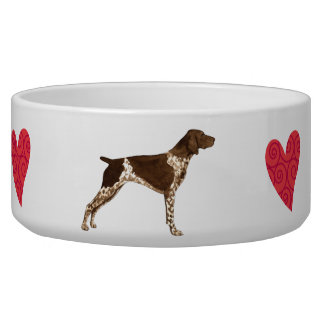 I Love my German Shorthaired Pointer Dog Bowls