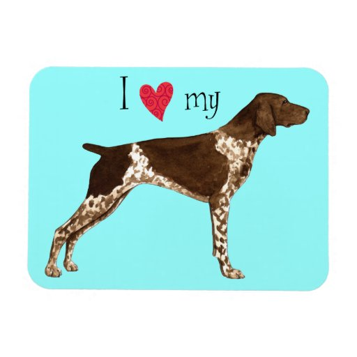 I Love my German Shorthaired Pointer Rectangle Magnets