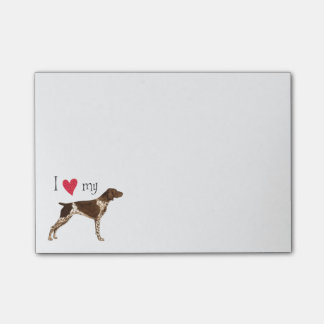 I Love my German Shorthaired Pointer Post-it® Notes