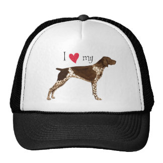 I Love my German Shorthaired Pointer Trucker Hat