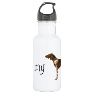 I Love my German Shorthaired Pointer Water Bottle